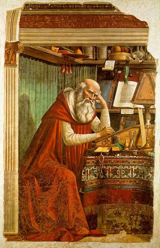 Domenico Ghirlandaio, De Heilige Hieronymus in Ognissanti-kerk in Florence