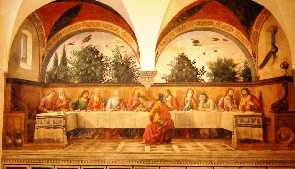 Domenico Ghirlandaio, Het laatste avondmaal in Ognissanti-kerk in Florence