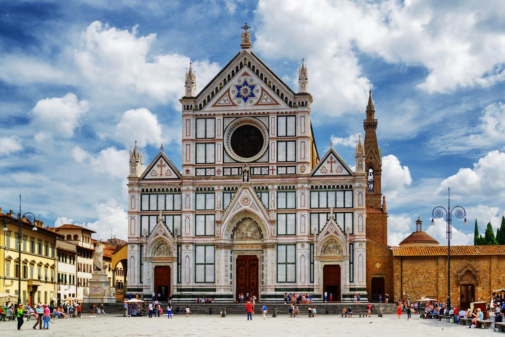 Piazza Santa Croce met de Santa Croce-kerk in Florence